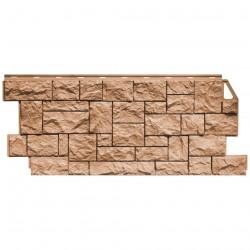 Фасадная панель FineBer, камень дикий, цвет терракотовый, 1.137 х 0.47 м