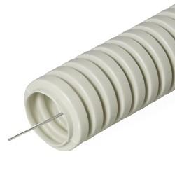 Труба гофрированная ПВХ с зондом, D 20мм, Строитель 32000