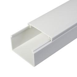 Кабель-канал 60х40мм, цвет белый, 2-й замок, 2м, Промрукав