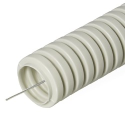 Труба гофрированная ПВХ с зондом, D 16мм, (50м/уп), Промрукав