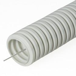 Труба гофрированная ПВХ с зондом, D 20мм, (25м/уп), Промрукав
