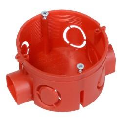 Коробка установочная 80-0500 для скрытой проводки безгалогенная (HF) 64х40 мм с саморезами, Промрука
