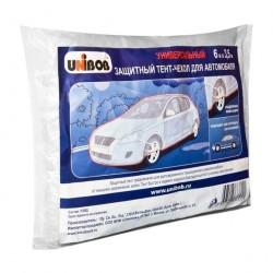 Тент-чехол защитный для автомобиля, полиэтилен, 6х3,5м UNIBOB