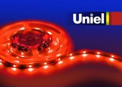 Лента светодиодная Uniel ULS-5050-30LED/m-10mm-IP20-DC12V-7,2W/m-5M-RED