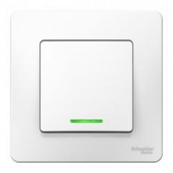 Выключатель 1-клавишный SE Blanca внутр Белый с подсветкой, 10А, 250B (арт. SE BLNVS010111)