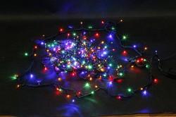 Электрогирлянда Нить 50 разноцветных ламп <рис>, 8 режимов длина 5м, 220v 55056