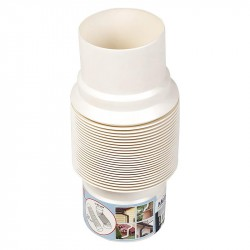 Отвод гибкий универсальный MUROL, цвет белый, 80/100 мм