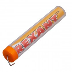 Припой с канифолью 10 гр.d=1.0мм (Sn60 Pb40 Flux 2.2%) REXANT