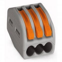 Клемма универсальная многоразовая 3-проводная (0,08-2,5 (4) мм2) 5шт REXANT /блистер D/