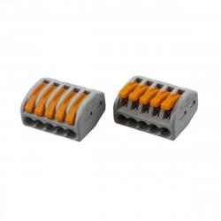 Клемма универсальная многоразовая 5-проводная (0,08-2,5 (4) мм2) 5шт REXANT /блистер D/