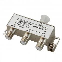 Делитель ТВ х 3 под F разъём 1000МГц REXANT 1шт  /блистер D/