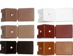 Уголок мебельный с шурупом, вишня (4шт) пакет Tech-Krep