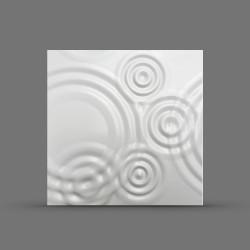Панель облицовочная 3D ВУОКСА 595х595х10 белая