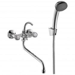 Смеситель для ванны универсальный Mitte OLDIE 00-00294 с душевым набором хром