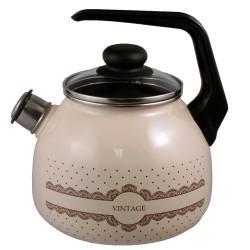 Чайник эмалированный 3,0л Appetite Vintage со свистком 4с209я