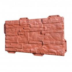 Панель фасадная Hardplast цвет красный сланец, 440 х 220 мм