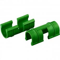 Зажимы универсальные  для крепления пленки к каркасу парника d12мм, 20 шт, зеленые PALISAD