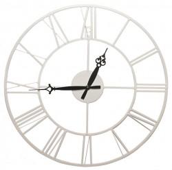 Часы настенные круглые Artlink White Metal Clock 40x40см 79805