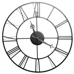 Часы настенные круглые Artlink Black Metal Clock 40x40см 79806