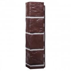 Угол внешний для фасадной панели Дачный, сланец, цвет коричневый, 0.47 м