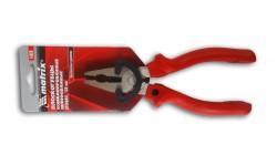 Плоскогубцы 160мм шлиф.с красными эрг. ручками Matrix 16969