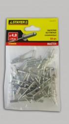 Заклепки 4,0*14мм алюминиевые Stayer /50шт/ 3120-40-14