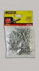 Заклепки 4,8* 8мм алюминиевые Stayer /50шт/ 3120-48-08