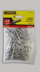 Заклепки 4,8*12мм алюминиевые Stayer /50шт/ 3120-48-12