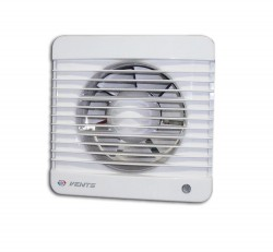 Вентилятор вытяжной осевой накладной 125мм Вентс 125МВ белый, с тяговым выкл., Vents
