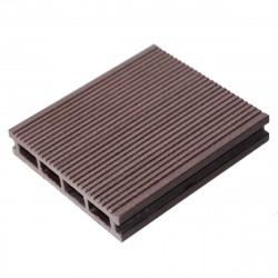Террасная доска Мастер Дэк Classic, узкий вельвет + тиснение, цвет венге, 3000 х 140 х 26 мм