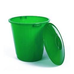 Бак пластиковый с крышкой зеленый 50л ЭП 097594