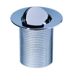 Выпуск TOP PLAY без отверстия для перелива L75мм, пробка осевого вращения, латунь хром.