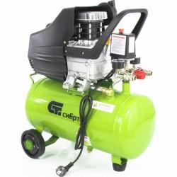Компрессор воздушный КК-1500/24, 1,5 кВт, 198 л/мин, 24л, прямой привод, масляный// СИБРТЕХ 58037