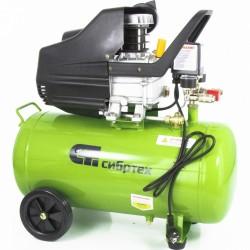 Компрессор воздушный КК-1500/50, 1,5 кВт, 198 л/мин, 50л, прямой привод, масляный// СИБРТЕХ 58039