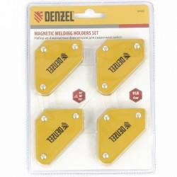 Набор из 4 магнитных фиксаторов для сварочных работ// Denzel 97555