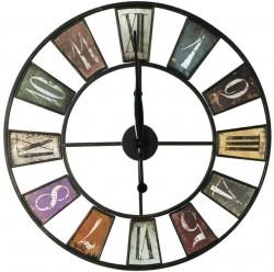 Часы настенные круглые Artlink Clock color 60x60см 79824