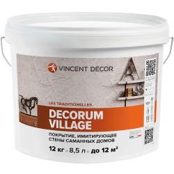 Покрытие Vincent Decorum Village декоративное структурное 12кг