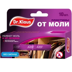 Антимоль Dr.Klaus пластины по 10шт без запаха