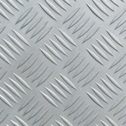 Лист алюминиевый рифленый АМг2, 1,5 мм х 600 мм х 1200 мм