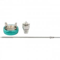 Набор для краскораспылителя AS802HVLP: сопло 1,7мм, игла, чашка Stels 57342