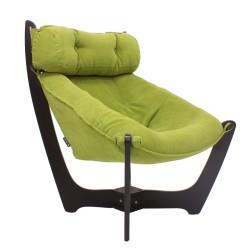Кресло для отдыха модель 11, Verona Apple green, венге