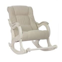 Кресло-качалка МИ Модель 77 дуб шампань (Дуб шампань, ткань Verona Vanilla)