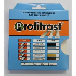 Уплотнитель Profitrast D-профиль (9*8мм) серый 6м