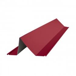 Планка снегозадержателя, цвет красное вино RAL 3005, 2000 х 115 х 80 мм