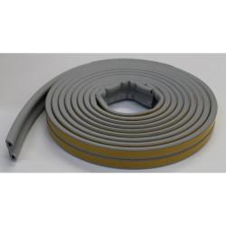 Уплотнитель Profitrast P-профиль(9*5.5мм) серый 6м