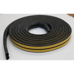 Уплотнитель Profitrast D-профиль (9*8мм) черный 6м