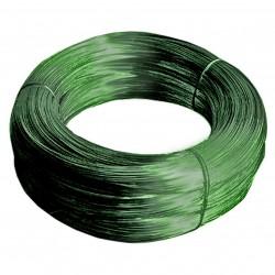 Проволока с ПВХ-покрытием, цвет зеленый, бухта 50 м