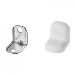 Уголок крепежный 25х25 белый (4 шт.)