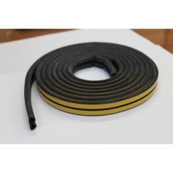 Уплотнитель Profitrast D-профиль (12*14мм) черный 6м