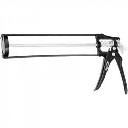 """Пистолет для герметика, 310мл, """"скелетный"""" усиленный с фиксатором, 6-гранный шток 7 мм"""